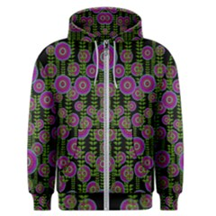 Black Lotus Night In Climbing Beautiful Leaves Men s Zipper Hoodie by pepitasart