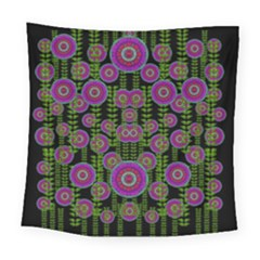 Black Lotus Night In Climbing Beautiful Leaves Square Tapestry (large) by pepitasart