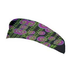 Black Lotus Night In Climbing Beautiful Leaves Stretchable Headband