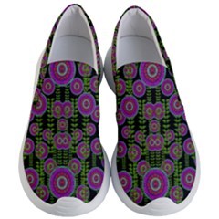 Black Lotus Night In Climbing Beautiful Leaves Women s Lightweight Slip Ons by pepitasart