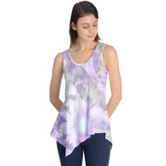 Romantic Pastel Floral,lilac Sleeveless Tunic