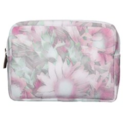 Romantic Pastel Floral,pink Make Up Pouch (medium)