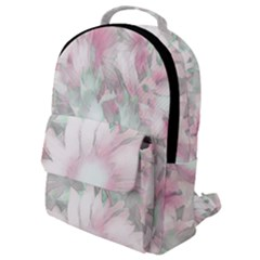 Romantic Pastel Floral,pink Flap Pocket Backpack (small)