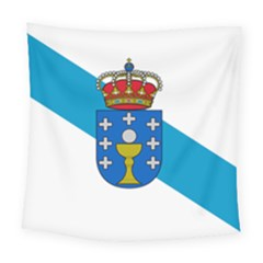 Flag Of Galicia Square Tapestry (large)
