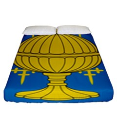 Flag Of Kingdom Of Galicia, 16th Century Fitted Sheet (king Size) by abbeyz71