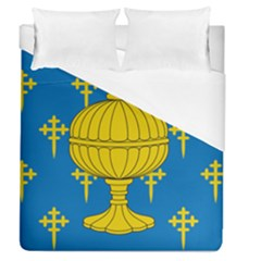 Flag Of Kingdom Of Galicia, 16th Century Duvet Cover (queen Size) by abbeyz71