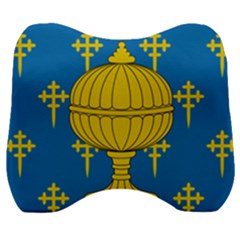 Flag Of Kingdom Of Galicia, 16th Century Velour Head Support Cushion