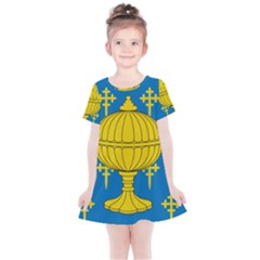 Flag Of Kingdom Of Galicia, 16th Century Kids  Simple Cotton Dress by abbeyz71
