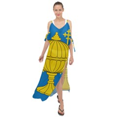 Flag Of Kingdom Of Galicia, 16th Century Maxi Chiffon Cover Up Dress