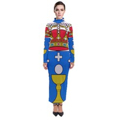 Coat Of Arms Of Galicia Turtleneck Maxi Dress by abbeyz71