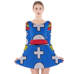 Coat Of Arms Of Galicia Long Sleeve Velvet Skater Dress