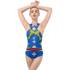 Coat Of Arms Of Galicia Cross Front Low Back Swimsuit