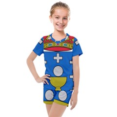 Coat Of Arms Of Galicia Kids  Mesh Tee And Shorts Set