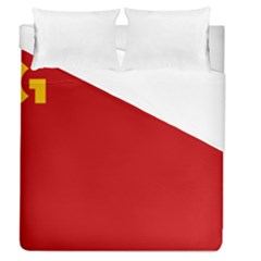 Confederaci¨?n Intersindical Galega Flag Duvet Cover (queen Size) by abbeyz71