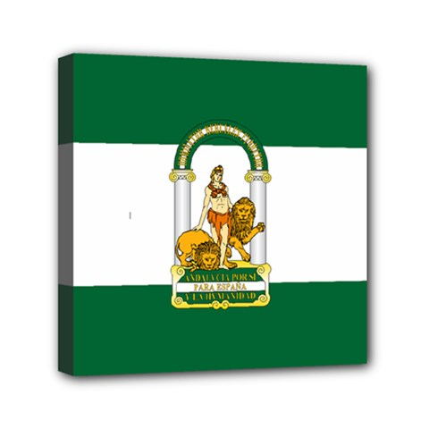 Flag Of Andalusia Mini Canvas 6  X 6  (stretched)