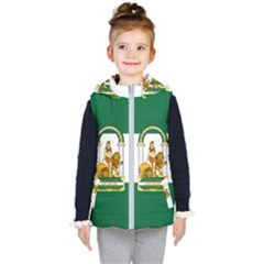 Flag Of Andalusia Kid s Hooded Puffer Vest