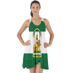 Flag Of Andalusia Show Some Back Chiffon Dress