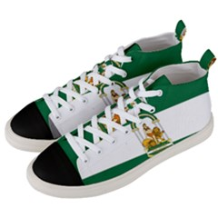 Flag Of Andalusia Men s Mid Top Canvas Sneakers by abbeyz71