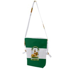 Flag Of Andalusia Folding Shoulder Bag by abbeyz71