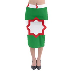 Nationalist Andalusian Flag Midi Pencil Skirt