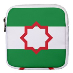 Nationalist Andalusian Flag Mini Square Pouch by abbeyz71