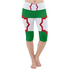 Nationalist Andalusian Flag Lightweight Velour Cropped Yoga Leggings by abbeyz71