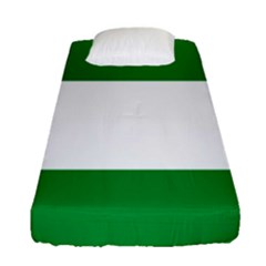 Flag Of Andalucista Youth Wing Of Andalusian Party Fitted Sheet (single Size)