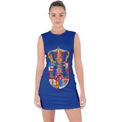 Flag Of Murcia, 1976 1982 Lace Up Front Bodycon Dress