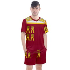 Coat Of Arms Of Murcia Men s Mesh Tee And Shorts Set