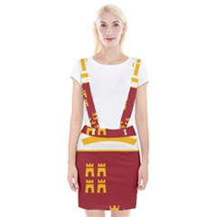Stylized Coat Of Arms Of Murcia Braces Suspender Skirt
