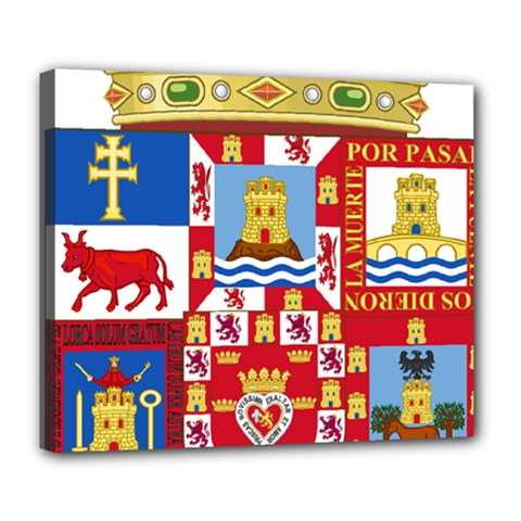 Coat Of Arms Of The Former Province Of Murcia Deluxe Canvas 24  X 20  (stretched) by abbeyz71