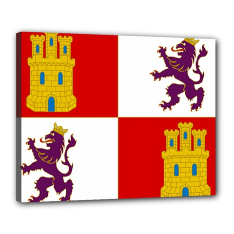 Flag Of Castile & Le¨?n Canvas 20  X 16  (stretched) by abbeyz71