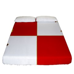 Flag Of Castile & Le¨?n Fitted Sheet (queen Size) by abbeyz71