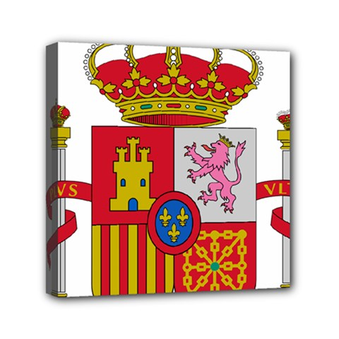 Coat Of Arms Of Spain Mini Canvas 6  X 6  (stretched)
