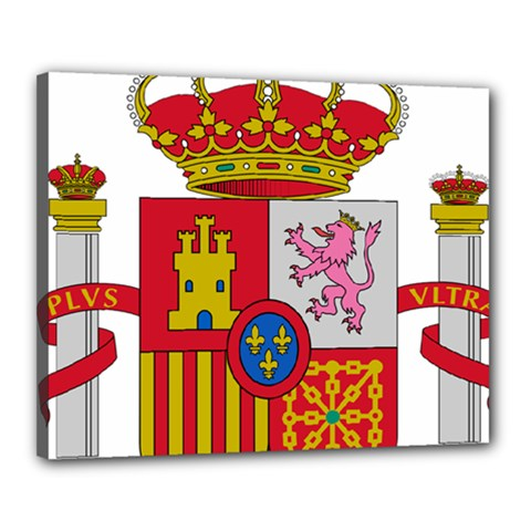 Coat Of Arms Of Spain Canvas 20  X 16  (stretched) by abbeyz71
