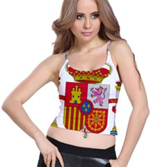 Coat Of Arms Of Spain Spaghetti Strap Bra Top by abbeyz71