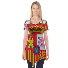 Coat Of Arms Of Spain Short Sleeve Tunic  by abbeyz71