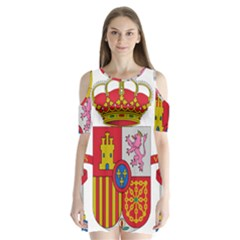 Coat Of Arms Of Spain Shoulder Cutout Velvet One Piece by abbeyz71