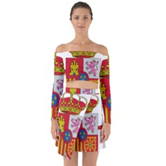 Coat Of Arms Of Spain Off Shoulder Top With Skirt Set