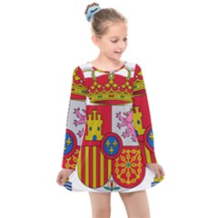Coat Of Arms Of Spain Kids  Long Sleeve Dress by abbeyz71