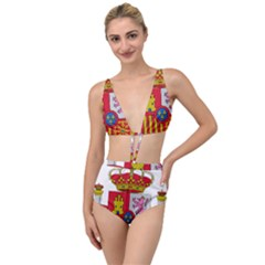 Coat Of Arms Of Spain Tied Up Two Piece Swimsuit by abbeyz71