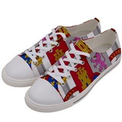 Coat Of Arms Of Spain Women s Low Top Canvas Sneakers by abbeyz71