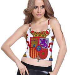 Coat Of Arms Of Spain Spaghetti Strap Bra Top