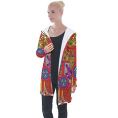 Coat Of Arms Of Spain Longline Hooded Cardigan by abbeyz71