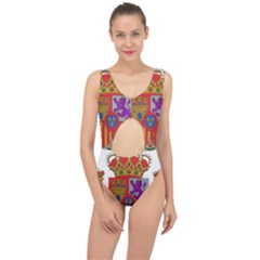 Coat Of Arms Of Spain Center Cut Out Swimsuit