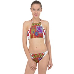 Coat Of Arms Of Spain Racer Front Bikini Set by abbeyz71