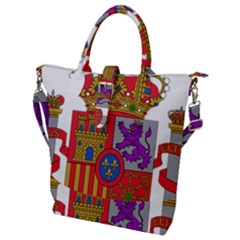 Coat Of Arms Of Spain Buckle Top Tote Bag by abbeyz71