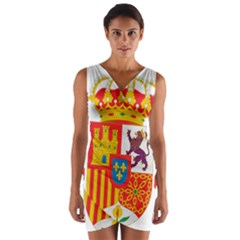 Coat Of Arms Of Spain Wrap Front Bodycon Dress