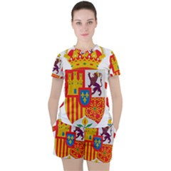 Coat Of Arms Of Spain Women s Tee And Shorts Set by abbeyz71