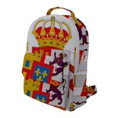 Coat Of Arms Of Spain Flap Pocket Backpack (large)